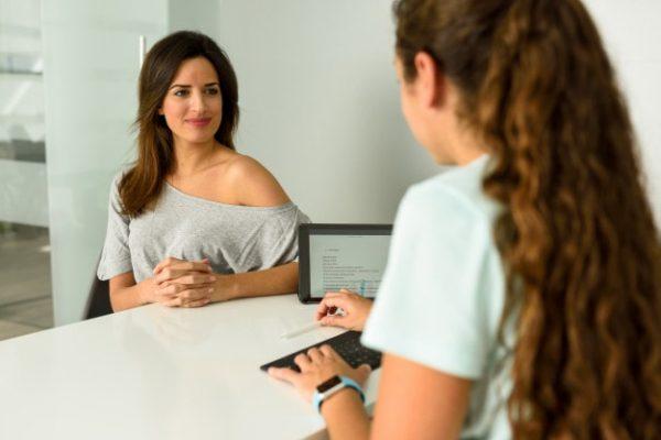Consulta antes da mamografia