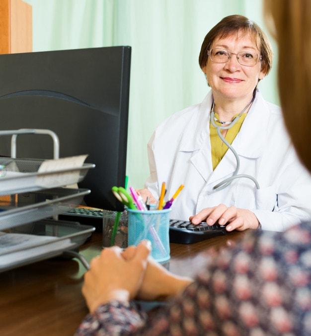 Densitometria óssea prestes a ser realizada