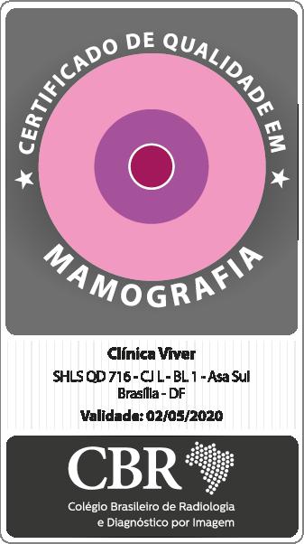 Selo Padrão Ouro Mamografia Clinica Viver
