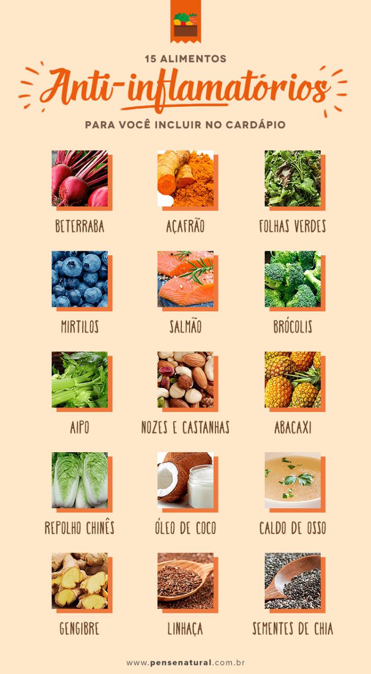 alimentos anti-inflamatórios e antioxidantes
